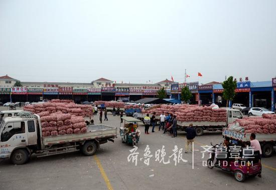 蒜价低迷,往年火爆的金乡大蒜国际交易中心有些冷清。