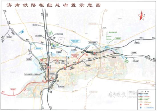 规划年度济南形成放射状铁路枢纽