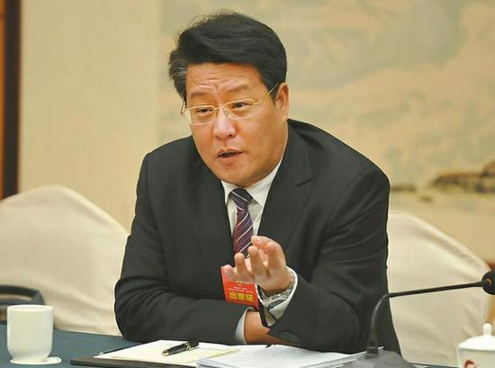 济南市政协委员、市经济和信息化委员会主任汲佩德 记者郭尧 摄