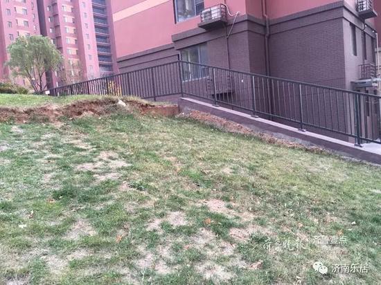 小区绿化带已下沉