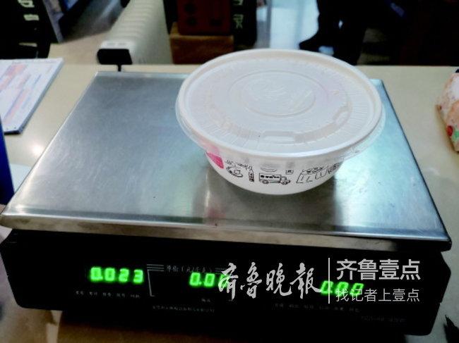 紫燕百味鸡的包装盒重23克。