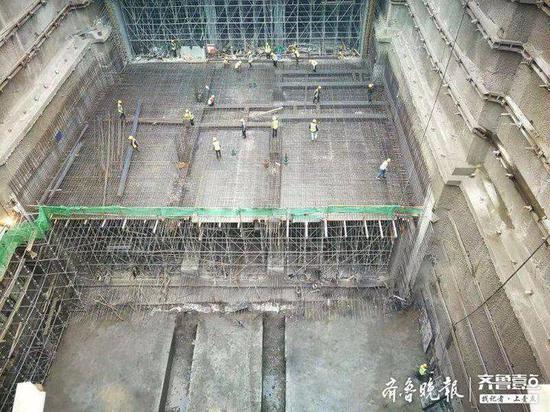地铁4号线 崂山科技城站主体结构将在年内封顶