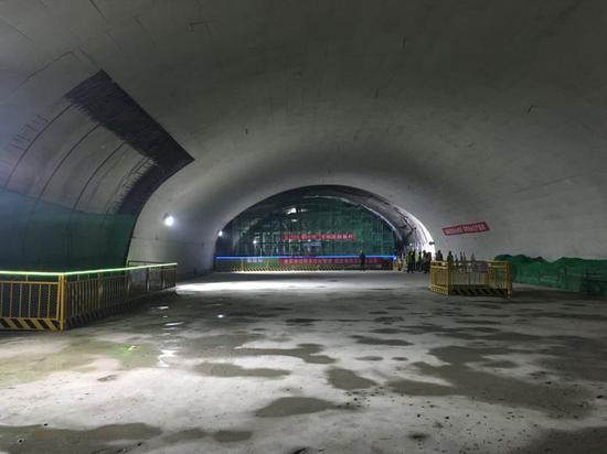 青岛地铁4号线人民会堂站主体结构全面完成