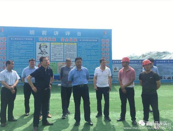 菏泽市开发区党工委领导李国珍、练建军调研丹阳民生及大项目建设