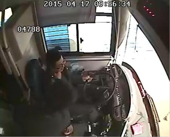 突然被掌掴紧急刹车  78路公交驾驶员许振峰
