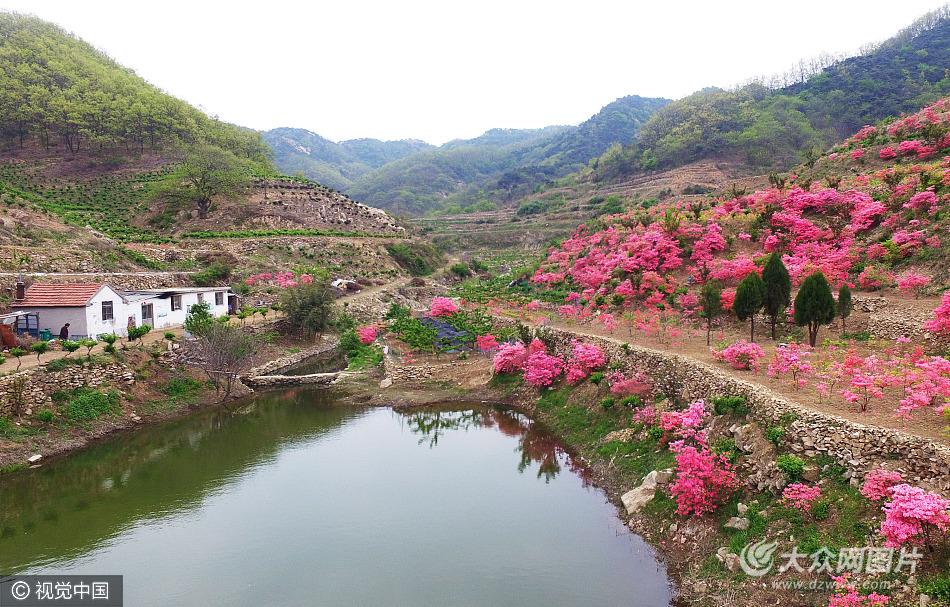 2017年4月25日,山东省日照市九仙山风景区内,吉祥家庭农场,山水相连