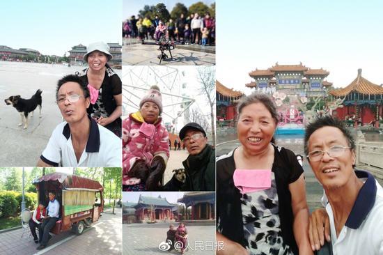此后郭景新决定带她去旅游,两人、一车、一狗,重庆、西安、北京、河南各地......