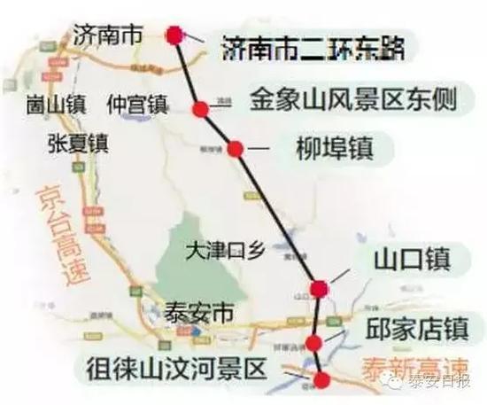 济泰高速公路规划设计图