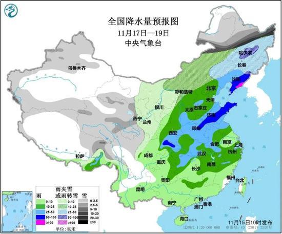 大范围降雨+大风 局部暴雨 山东本周将迎两股冷空气