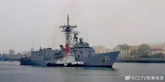 """泰国""""纳来颂恩""""号护卫舰"""