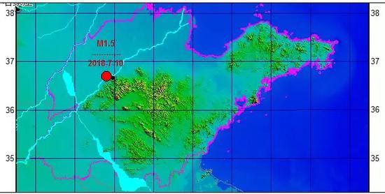 07月10日05时33分M1.5级地震震中分布图
