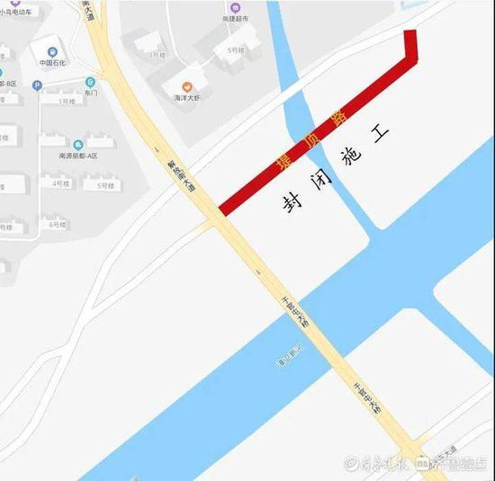 德州于官屯大桥北侧堤顶路 大桥至岔河西大道封闭施工