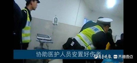 济南莱芜一人被蜂蜇伤剧痛 交警开道火速送医