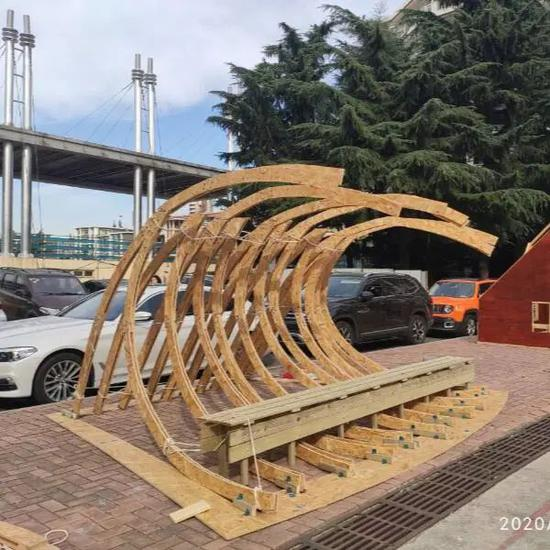 快来看!青岛理工大学这门课真的不一样 建筑与城乡规划学院营造实验作品展示