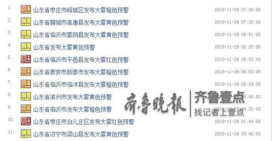 截止11月29日07时26分,最新山东高速路况数据显示: