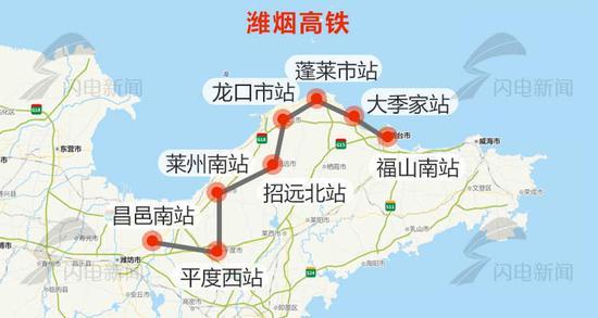 未来威海至北京只需3小时 潍烟高铁地质定测完成(线路