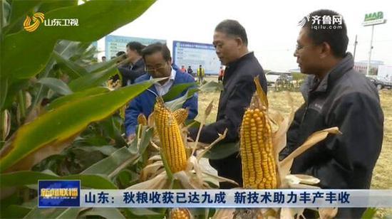 山东秋粮收获已达九成 新技术助力丰产丰收