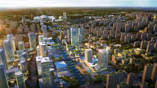 规划内容分为概念研究和核心区城市设计两个层面。