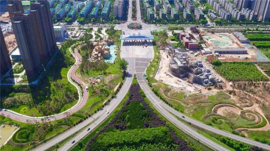▲陕西省韩城市西禹高速韩城出入口景观提升工程