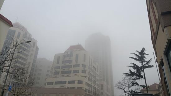 """橙色预警 大雾来袭 弱冷空气今夜或来青""""骚扰"""""""