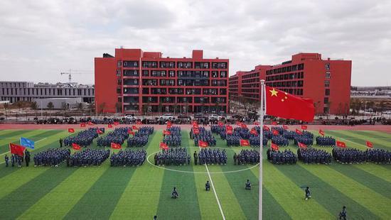 青岛莱西首所高校—山东文化产业职业学院举行新生开学典礼