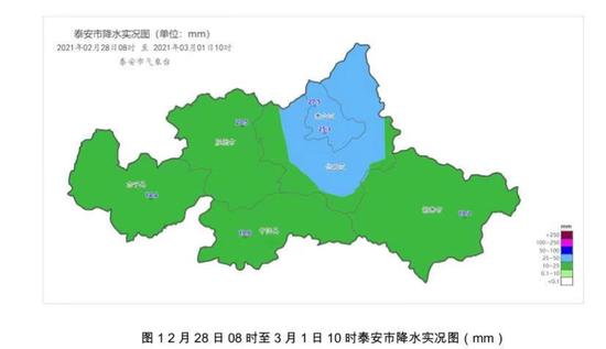 泰安刚过去的降水和大风降温天气 泰山最大降水量27.5毫米