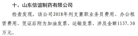 """山东信谊制药""""账目违规""""超1000万元被罚"""