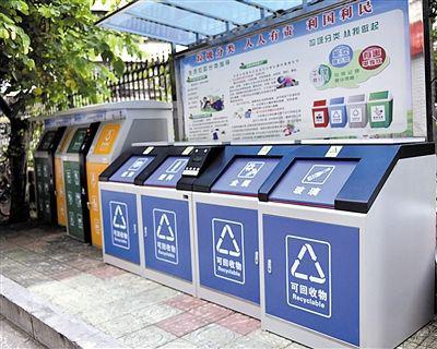 广州黄埔区黄船社区智慧垃圾分类试点。