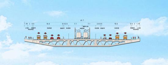 凤凰黄河大桥断面设计。