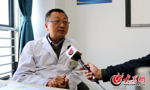 济南市中心医院肿瘤科主任医师刘传勇接受大众网记者采访