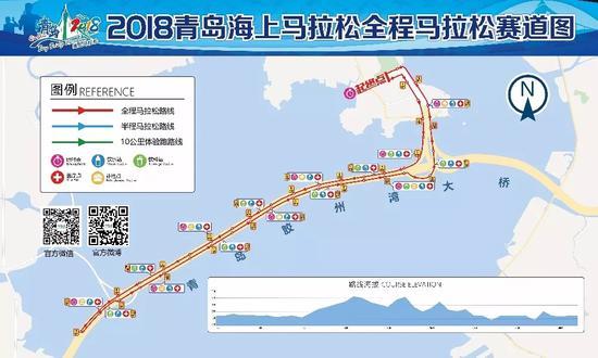 △2018青岛海上马拉松全马赛道图 来源:2018青岛海上马拉松官网