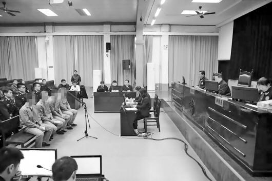 图为庭审现场。博山区检察院供图