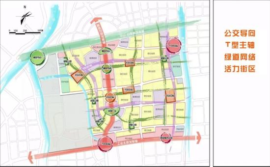 济南CLD中央居住区规划范围 奥体中路城市发展轴建设