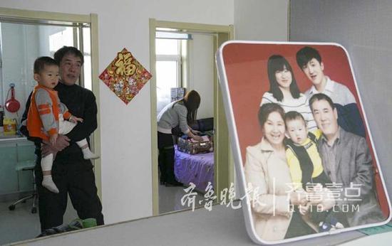一家人在内蒙古安了临时的小家 。