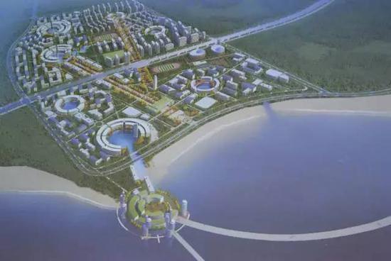 海大黄岛校区1号设计方案鸟瞰图