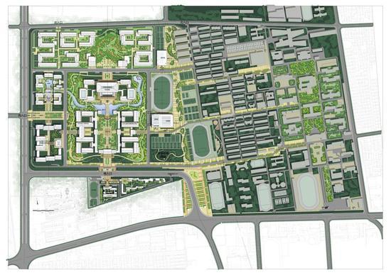 新老校区整体规划总平面图