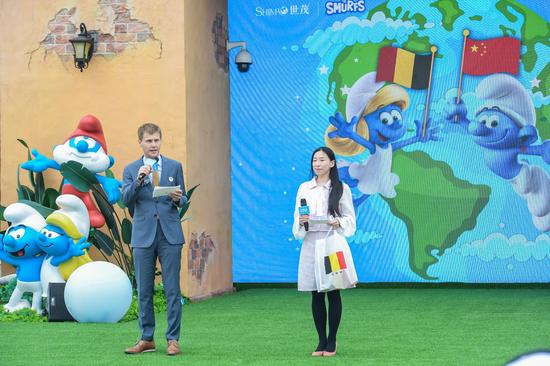 比利时王国驻上海总领事兰波先生致辞