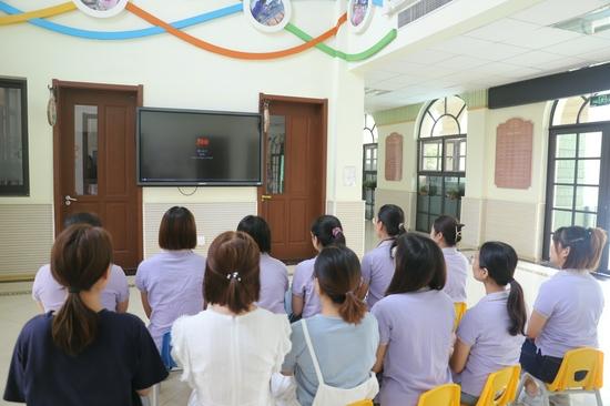 济南市历下区百合幼儿园党支部组织开展观影活动