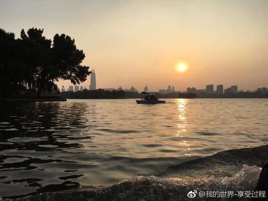 我的世界-享受过程:夕阳