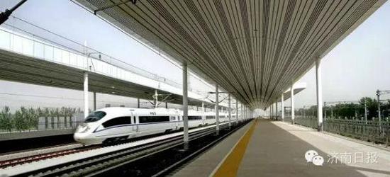 淄博北,临淄北,青州北,潍坊北,高密北,青岛机场和红岛,并对胶州北站