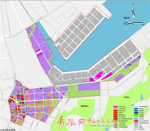 公示方案显示,青岛前湾保税港区范围东至徒山(南港段),杂货码头