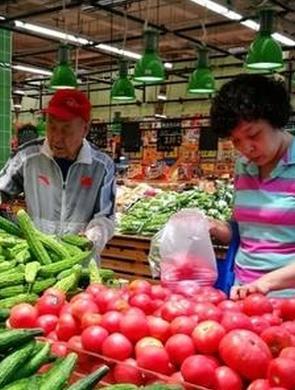 阴雨天气 济南市场上的蔬菜价格波动大