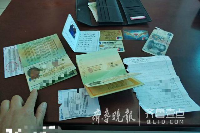留学生济南公交车上丢了钱包 车队工作人员帮送还