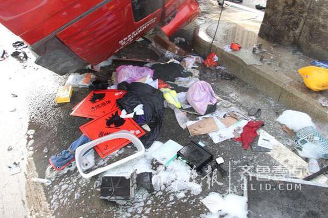 """济南""""罐车撞击限高杆""""视频公布 驾驶人仍在救治"""