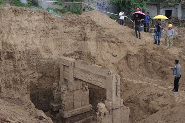 滨州一建筑工地挖出清代贞节牌坊