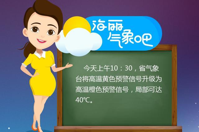 海丽气象吧 山东:高温黄色预警信号升级为高温橙色预警信号