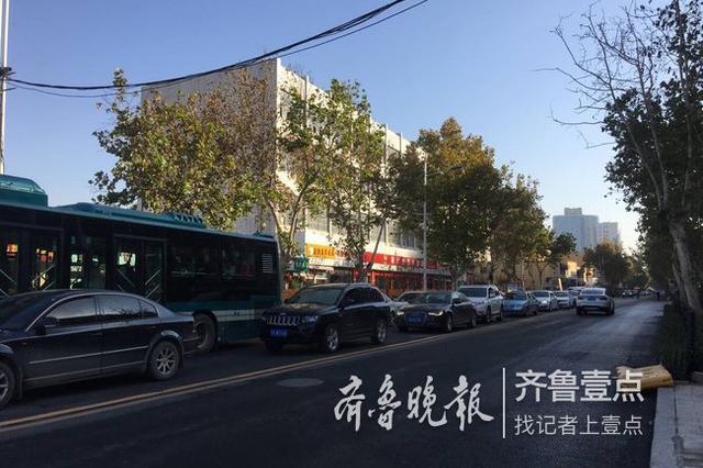 济南花园路施工结束放开通行 看 非机动车道加宽了