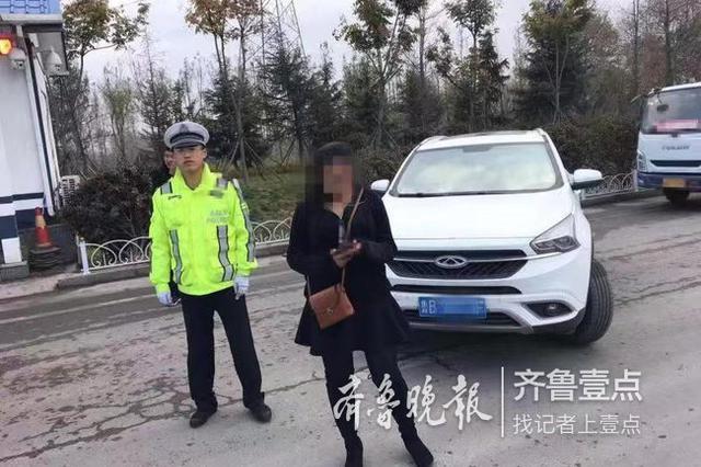 刚考完科三女子在高速练车 自己被罚还连累了丈夫