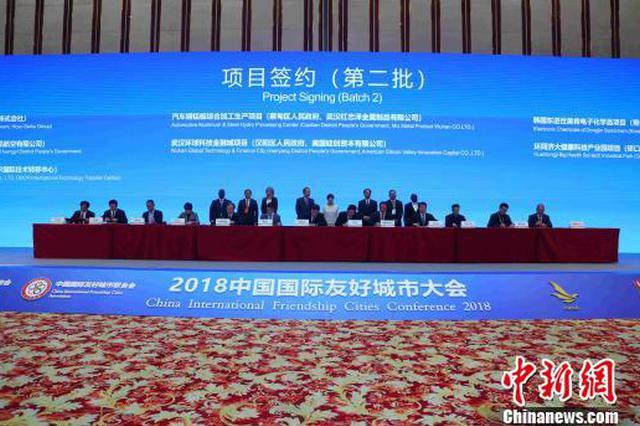 国际友城经贸大会签约21个项目 总金额逾1300亿元