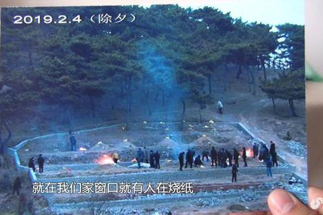 青岛一公园私埋乱葬吓坏小区居民 负责人:监管有漏洞